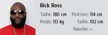 rick ross taille